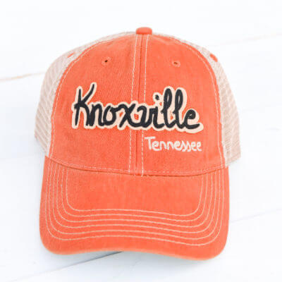 Knoxville Tennessee Trucker Hat – Orange c046494f863a