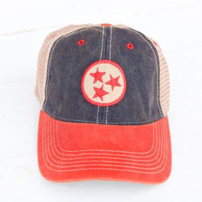 TN Tristar Navy Red Trucker Hat 0dc905490667